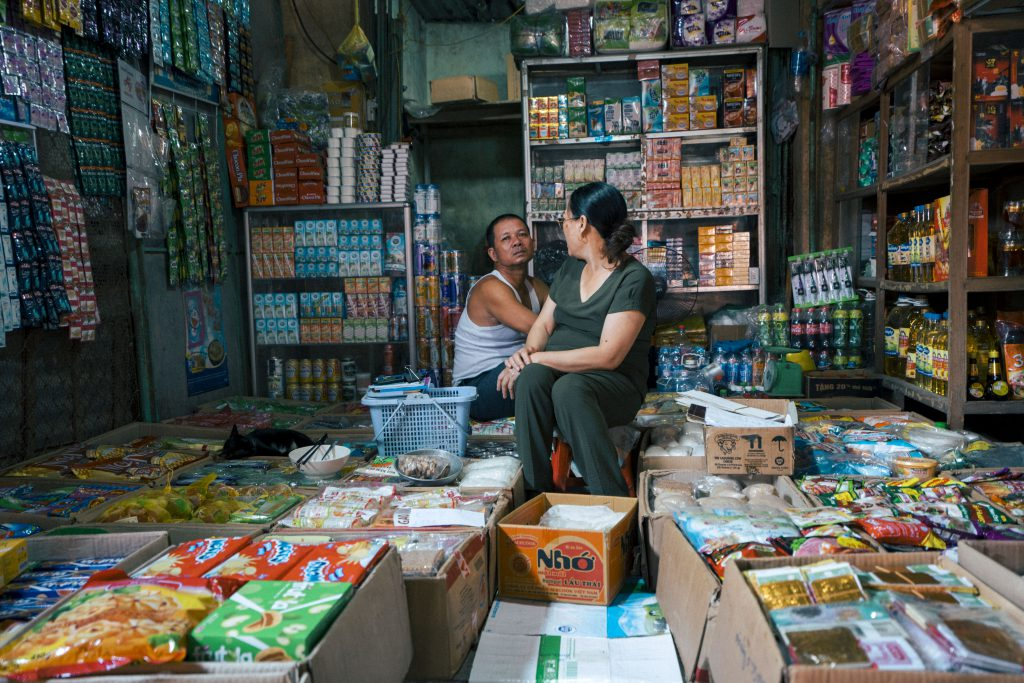 a local store in phong nha selling variety of snacks